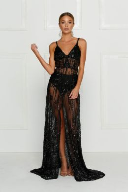 40 Black Mesh Long Dresses Ideas 39