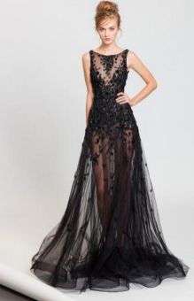 40 Black Mesh Long Dresses Ideas 40
