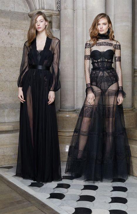 40 Black Mesh Long Dresses Ideas 7