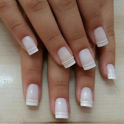 40 Elegant Look Bridal Nail Art Ideas 1