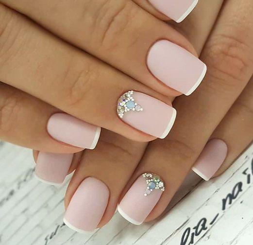 40 Elegant Look Bridal Nail Art Ideas 29