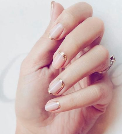 40 Elegant Look Bridal Nail Art Ideas 35