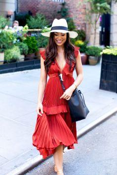 40 How to Wear Tea Lengh Dresses Street Style Ideas 13