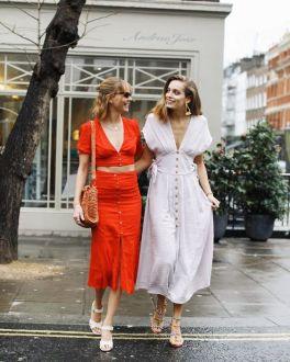 40 How to Wear Tea Lengh Dresses Street Style Ideas 22