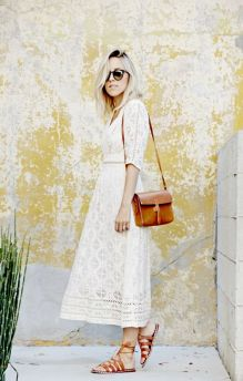 40 How to Wear Tea Lengh Dresses Street Style Ideas 30