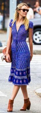 40 How to Wear Tea Lengh Dresses Street Style Ideas 36