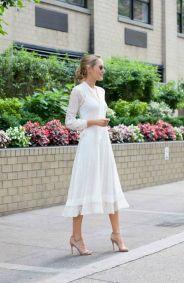 40 How to Wear Tea Lengh Dresses Street Style Ideas 45