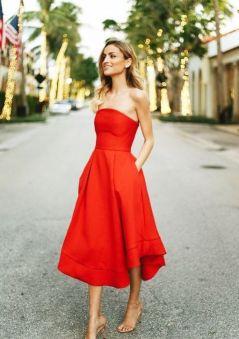 40 How to Wear Tea Lengh Dresses Street Style Ideas 6