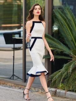 40 How to Wear Tea Lengh Dresses Street Style Ideas 8