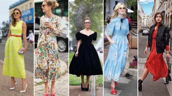 40 How to Wear Tea Lengh Dresses Street Style Ideas
