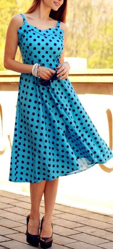 40 Polka Dot Dresses In Fashion Ideas 25