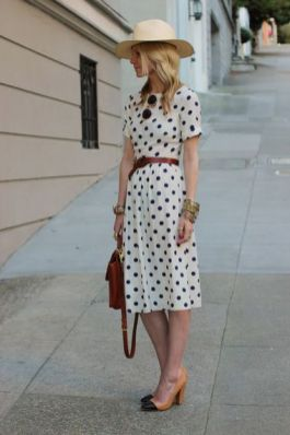 40 Polka Dot Dresses In Fashion Ideas 4
