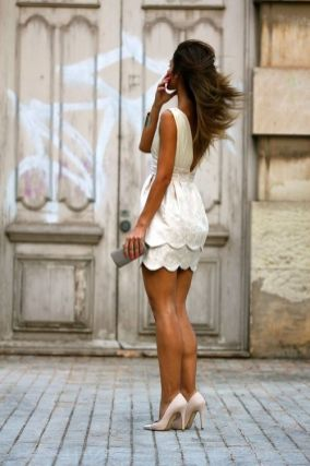 40 Ways to Look Stylish With White Heels Ideas 22