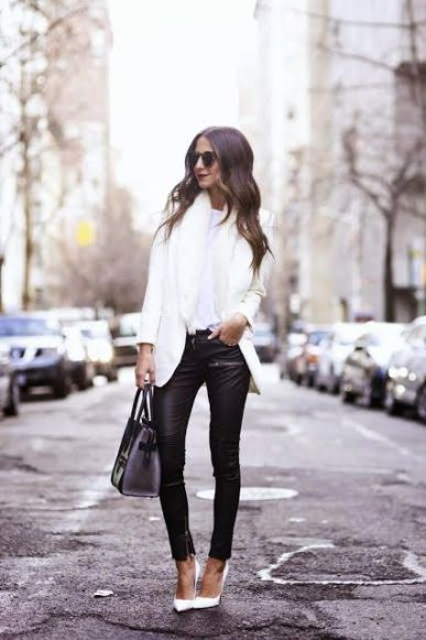 40 Ways to Look Stylish With White Heels Ideas 30