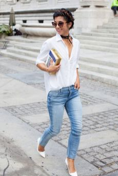 40 Ways to Look Stylish With White Heels Ideas 32