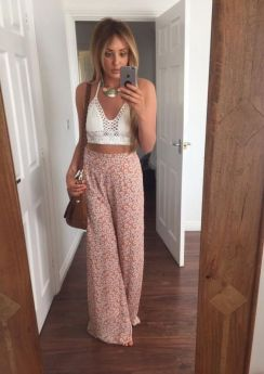 40 Ways to Wear Palazzo Pants for Summer Ideas 22