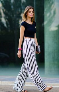 40 Ways to Wear Palazzo Pants for Summer Ideas 42