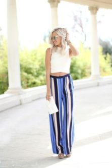 40 Ways to Wear Palazzo Pants for Summer Ideas 47