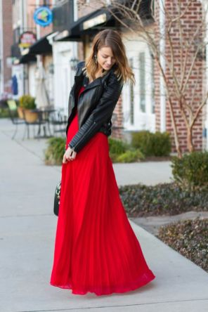 50 Fashionable Red Outfit Ideas 12