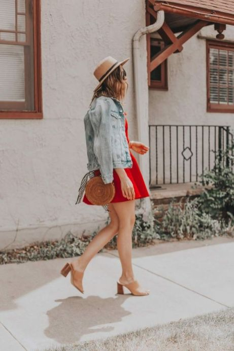 50 Fashionable Red Outfit Ideas 20