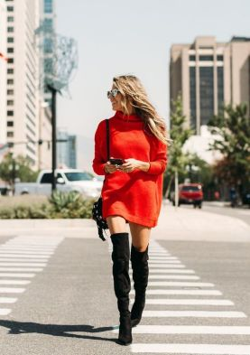 50 Fashionable Red Outfit Ideas 29