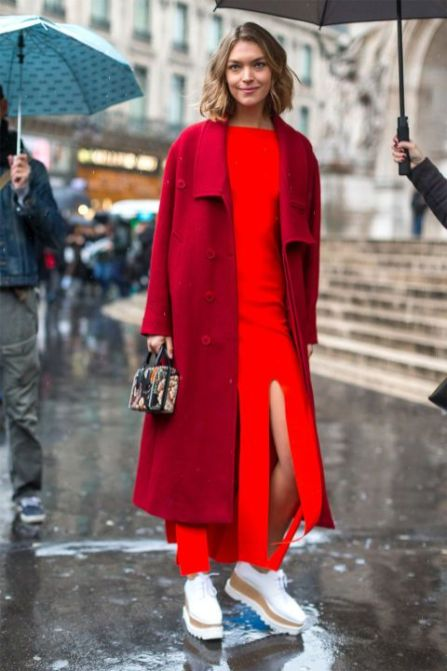 50 Fashionable Red Outfit Ideas 40