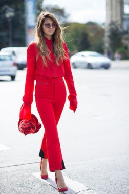 50 Fashionable Red Outfit Ideas 51
