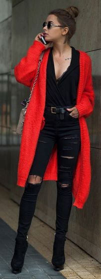 50 Fashionable Red Outfit Ideas 9