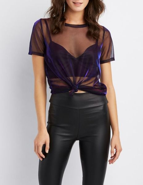 50 How to Wear Black Mesh Tops in Style Ideas 12
