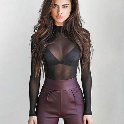 50 How to Wear Black Mesh Tops in Style Ideas 15