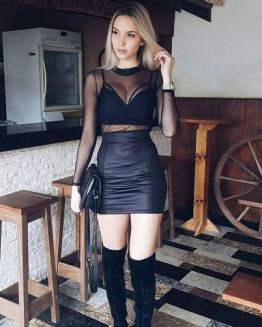 50 How to Wear Black Mesh Tops in Style Ideas 17