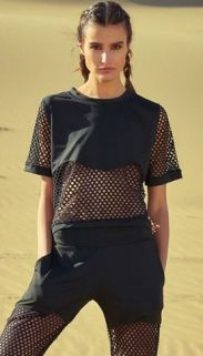 50 How to Wear Black Mesh Tops in Style Ideas 48