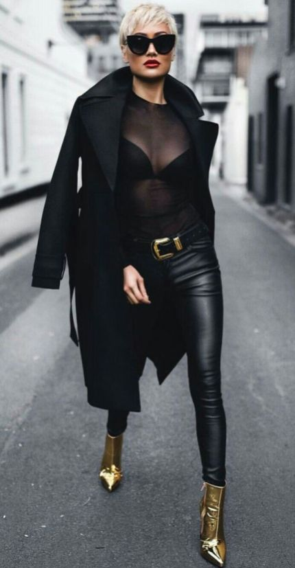 50 How to Wear Black Mesh Tops in Style Ideas 50