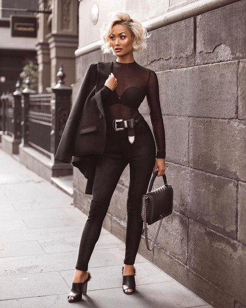 50 How to Wear Black Mesh Tops in Style Ideas 51