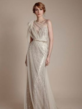 50 One Shoulder Bridal Dresses Ideas 13