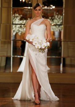 50 One Shoulder Bridal Dresses Ideas 35