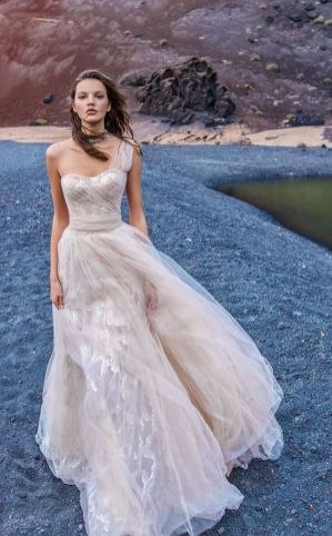 50 One Shoulder Bridal Dresses Ideas 39