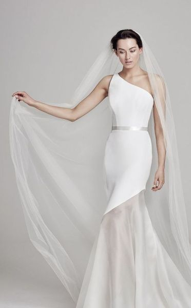 50 One Shoulder Bridal Dresses Ideas 40
