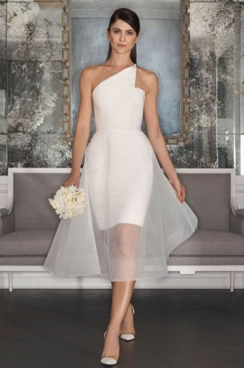 50 One Shoulder Bridal Dresses Ideas 46