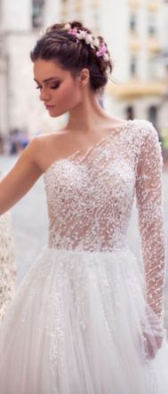 50 One Shoulder Bridal Dresses Ideas 51