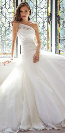 50 One Shoulder Bridal Dresses Ideas 7