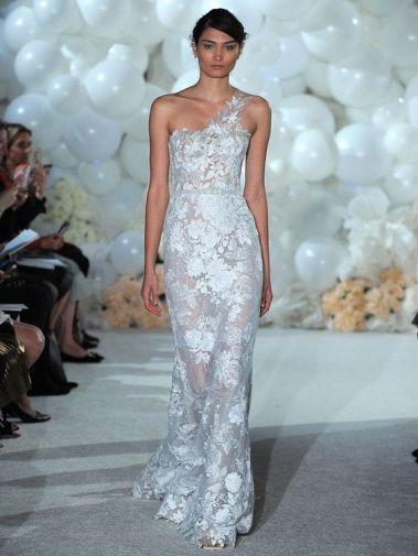 50 One Shoulder Bridal Dresses Ideas 8