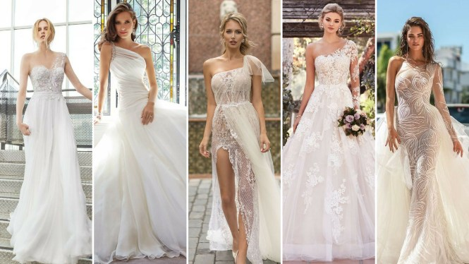 50 One Shoulder Bridal Dresses Ideas