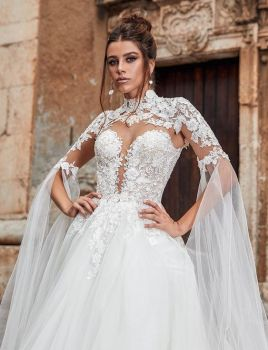 50 Simple Glam Victorian Neck Style Bridal Dresses Ideas 36
