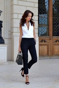 50 Ways to Wear Perfect Black and White in Fashion Ideas 44