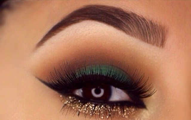 40 Green Eyeshadow Looks Ideas 38