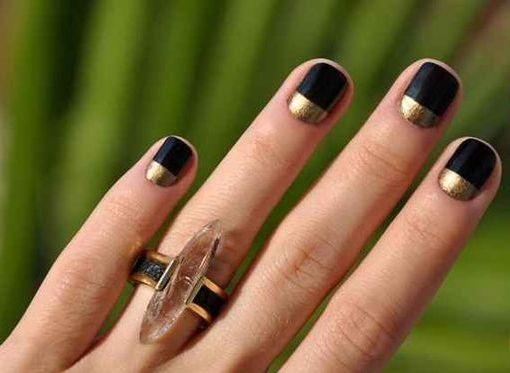 50 Glam Gold Girly Nail Art Looks Ideas 10
