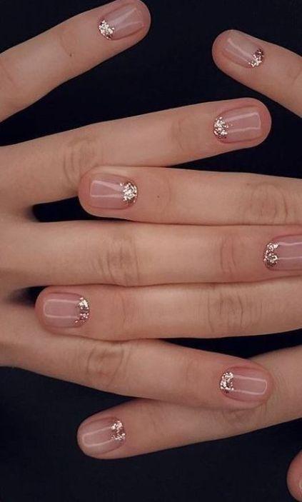 50 Glam Gold Girly Nail Art Looks Ideas 12