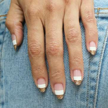 50 Glam Gold Girly Nail Art Looks Ideas 21