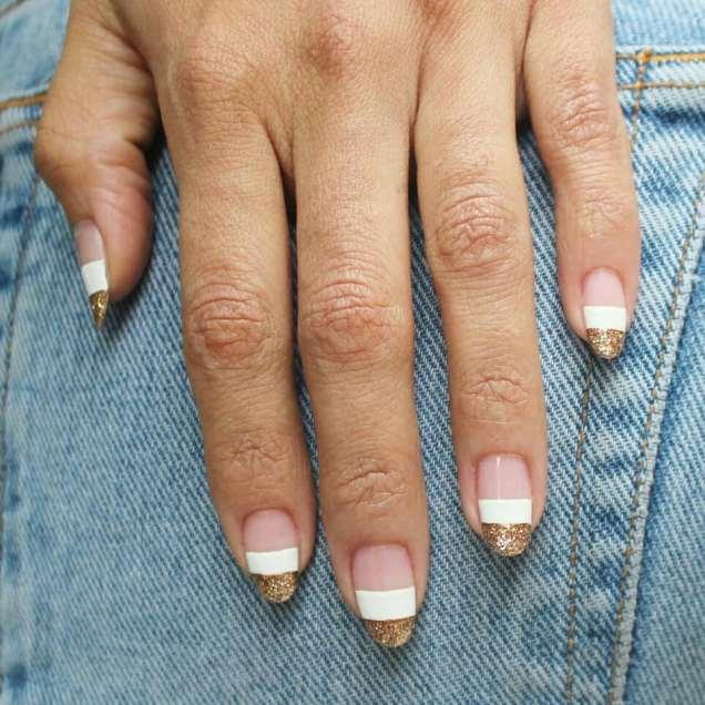 50 Glam Gold Girly Nail Art Looks Ideas 21